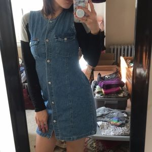 Vintage Calvin Klein denim mini dress